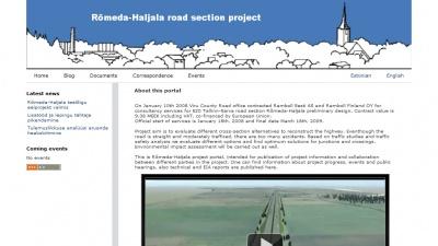 Rõmeda Haljala teelõigu projekt